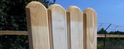 Sztachety z drewna litego iglastego