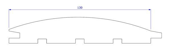 Szkic szalówki półokrągłej szerokiej