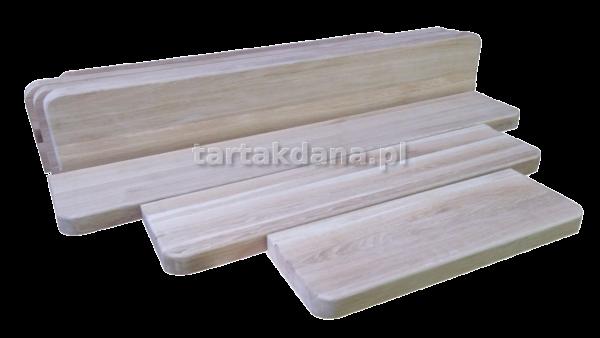parapety z twardego drewna